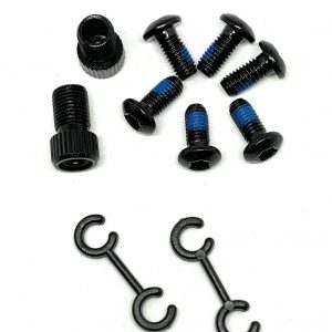 All Bicycle T Alloy Bolts Black M5 x 10mm pack of 6pcs + 2 Presta Adaptor