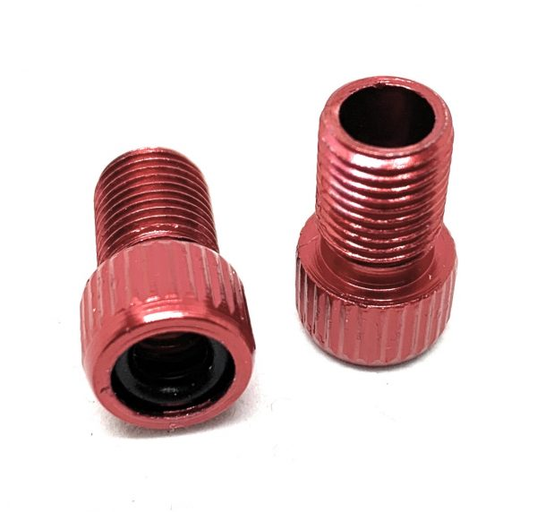 Hardheaded Ram 2 pcs red Presta valve adapter to Schrader for MTB