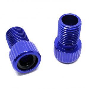 Hardheaded Ram 2 pcs blue Presta valve adapter to Schrader for MTB